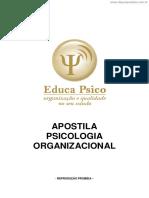 Apostila Psicologia Organizacional
