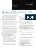 Dell EMC Networking S4048 on Spec Sheet