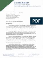 Governor Dayton's veto letter of  HF 3280 to Speaker of the House Kurt Daudt