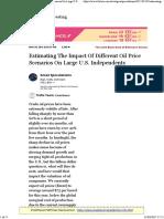Estimating the Impact of Different Oil Price Scenarios O