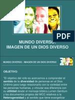 Mundo Diverso Imagen de Dios Diverso Slides José Gilberto Beraldo