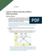 Oferta, Demanda y Politicas Gubernamentales
