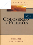 Comentario Al Nuevo Testamento - Colosenses y Filemon - William Hendriksen