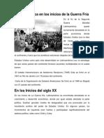 Latinoamérica en Los Inicios de La Guerra Fría