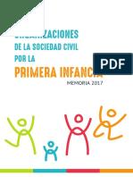 Memoria 2017 - Red de Organizaciones de la Sociedad Civil por la Primera Infancia
