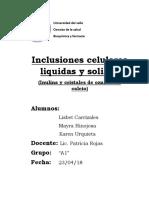 inclusiones celulares liquidas y solidas