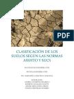 CLASIFICACIÓN DE LOS SUELOS SEGÚN LAS NORMAS ASSHTO Y SUCS.docx