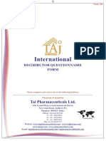 Questioner Form for Pharma