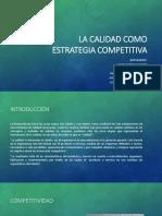3 La Calidad Como Estrategia Competitiva
