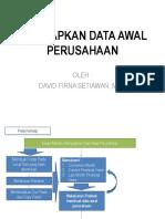 Menyiapkan Data Awal Perusahaan
