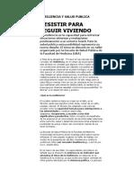 Resiliencia y Salud Publica