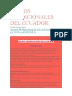 Juegos Tradicionales Del Ecuador