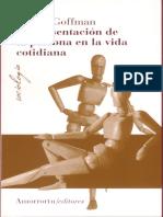 E. Goffman. La Presentacion de Persona en La Vida Cotidiana.pdf