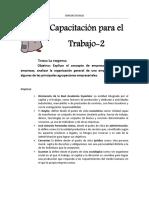 CAPACITACIÓN PARA EL TRABAJO CLASE 2