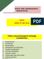 Faktor2 Yg Mempengaruhi Produktivitas