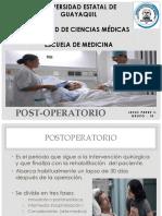 Post Operatorio