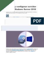 Instalar y Configurar Servidor FTP en Windows Server 2016