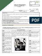 Evaluación diágnostico Lenguaje 6°