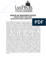 LAPREHAI - Deed of Restrictions
