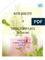 s k Sharma Water Chemistry in Thermal Power Plants
