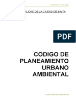 Codigo de Planeamiento Urbano de Salta