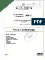 Examen de admision UNMSM 2018 - II (Área B).pdf