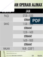 Jadwal Jam Operasi Alimax