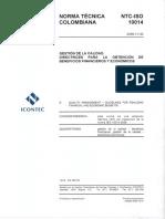 NTC ISO 10014-2006