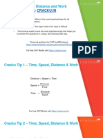 Time, Speed, Distance and Work Formuals_cracku