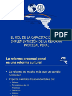 Rol de Capacitacion en La Reforma Procesal Penal