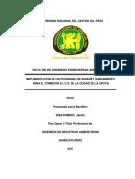 Implementación de Un Programa de Higiene y Saneamiento Para El Comedor s.e.y.o. de La Ciudad de l
