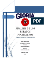 Analisis Financiero Gloria S.A/ UNAB-2016