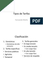 3.5.2Tipos de Tarifas