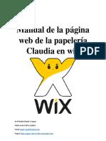 Manual de La Página Web de La Papelería Claudia en Wix