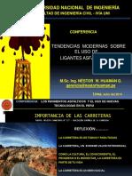 Conferencia Tendencia Modernas Uso Ligantes asfálticos