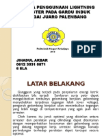 ANALISA PENGGUNAAN LIGHTNING ARRESTER PADA GARDU INDUK SUNGAI.pptx