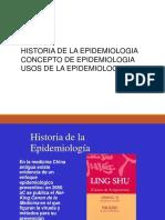 Historia, Concepto y Usos de La Epidemiologia