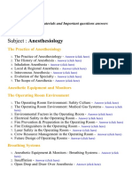 Anesthesiology - Lecture Notes, Study Materials and Important questions answers