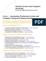 Automation Production System and Computer Integrated Manuacturing - Lecture Notes, Study Materials and Important questions answers
