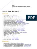 Basic Biochemistry - Lecture Notes, Study Materials and Important questions answers