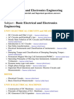 Basic Electrical and Electronics Engineering - Lecture Notes, Study Materials and Important questions answers