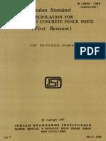 4996 RCC Fence Post