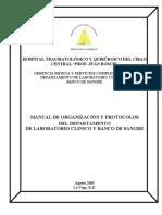 Manual de Organización y Protocolos Del Departamento de Laboratorio Clínico y Banco de Sangre (1)