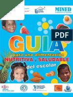 Guia Para Una Alimentacion Nutritiva y Saludable Del Escolar