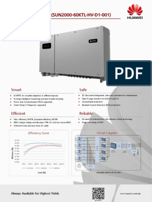 Huawei Sun2000-60ktl-Hv-d1-001 Datasheet Draft a en
