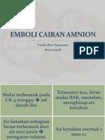 Emboli Cairan Amnion