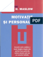 Motivatie Si Personal It Ate a H Maslow