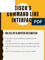 Introduction to Ciscos CLI