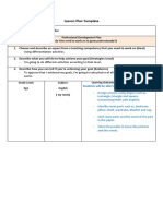 lesson plan template - english - level 6