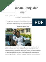 Pernikahan, Uang, Dan Iman